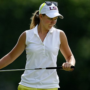 Austin Ernst during the semifinals at the U. S. Women's Amateur Championship at Rhode Island Country Club in Barrington, Rhode Island.