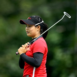 Moriya Jutanugarn during the semifinals at the U. S. Women's Amateur Championship at Rhode Island Country Club in Barrington, Rhode Island.