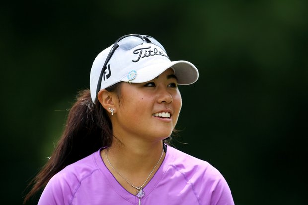Defending champion Danielle Kang after winning her match during the Semifinals at the U. S. Women's Amateur Championship at Rhode Island Country Club in Barrington, Rhode Island.