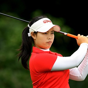 Moriya Jutanugarn during the final round at the U. S. Women's Amateur Championship at Rhode Island Country Club in Barrington, Rhode Island.