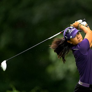 Defending champion, Danielle Kang, at No. 11 during the final round at the U. S. Women's Amateur Championship at Rhode Island Country Club in Barrington, Rhode Island.