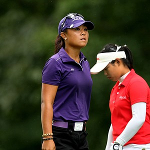 Danielle Kang leaves the 11th tee where she was 3-up on the match during the final round at the U. S. Women's Amateur Championship at Rhode Island Country Club in Barrington, Rhode Island.