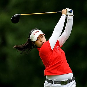 Moriya Jutanugarn was 3-down at the 11th tee during the final round at the U. S. Women's Amateur Championship at Rhode Island Country Club in Barrington, Rhode Island.