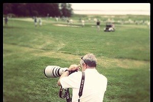 USGA photographer, Steve Gibbons at the U. S. Women's Amateur.