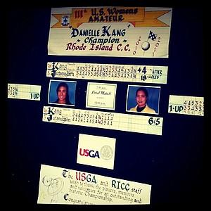 The scoreboard after the 2011 U. S. Women's Amateur.