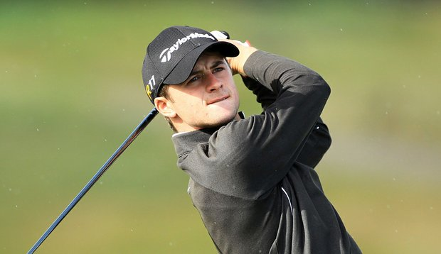 David Law during the 2011 Walker Cup Squad practice session at Royal Aberdeen Golf Club.