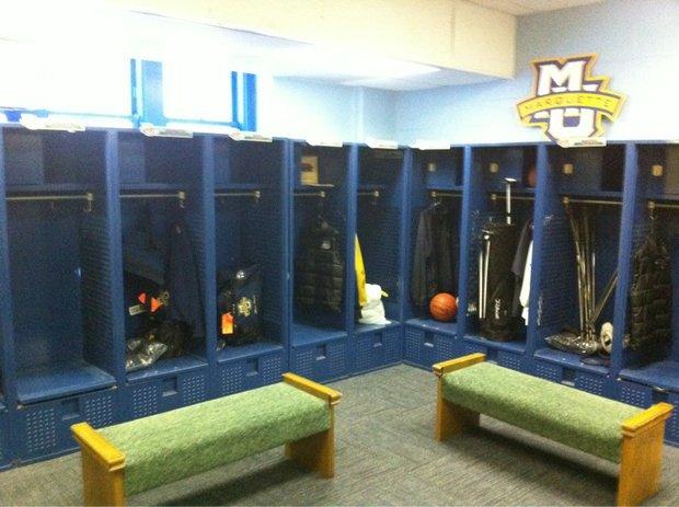 Marquette locker room