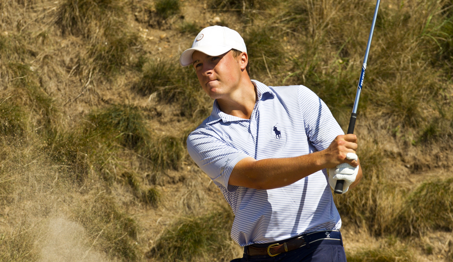 Jordan Spieth during the Round of 16 at the U.S. Amateur.