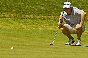 Jordan Russell during the semifinals of the U.S. Amateur.