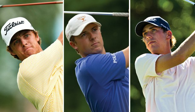 Blayne Barber, Jordan Spieth and Kelly Kraft (from left) were selected to the U.S. Walker Cup team.