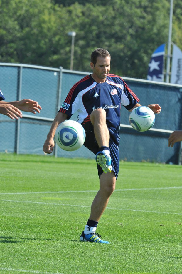 Sergio Garcia practices with the MLS New England Revolution