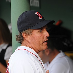 Phil Mickelson was on hand at Fenway Park Thursday evening to throw the opening pitch.