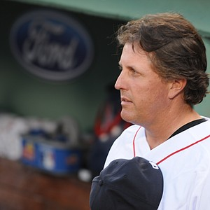 Phil Mickelson at Fenway Park.