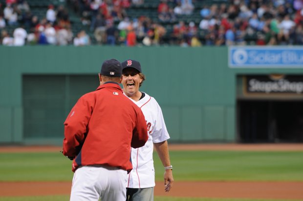 Phil Mickelson at Fenway Park