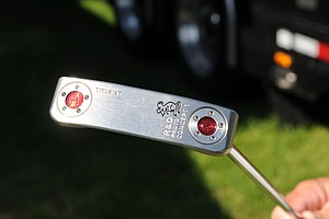 One of the conventional Scotty Cameron putters that can be used in a belly putter by changing the weights in the putter head.