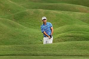 Jonathan Garrick hits a shot at No. 18 at the 2011 Junior Players at TPC Sawgrass in Ponte Vedra Beach, FL.