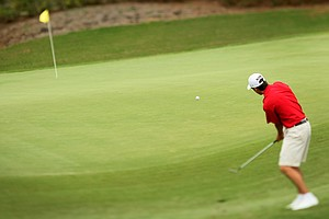 Gavin Hall hits a chip shot at the 2011 Junior Players at TPC Sawgrass in Ponte Vedra Beach, FL.