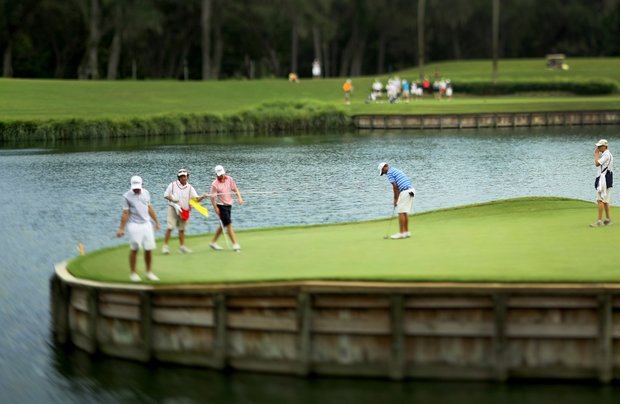 A view of the 17th green at the 2011 Junior Players at TPC Sawgrass in Ponte Vedra Beach, FL.