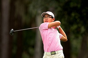 Jim Liu hits his tee shot at No. 9 at the 2011 Junior Players at TPC Sawgrass in Ponte Vedra Beach, FL.