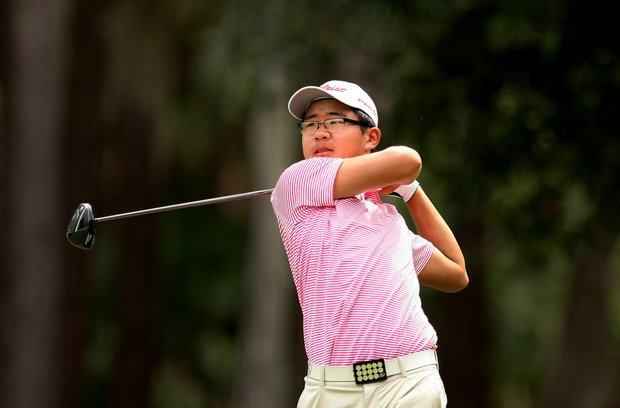 Jim Liu hits his tee shot at No. 9 at the 2011 Junior Players at TPC Sawgrass in Ponte Vedra Beach, FL.