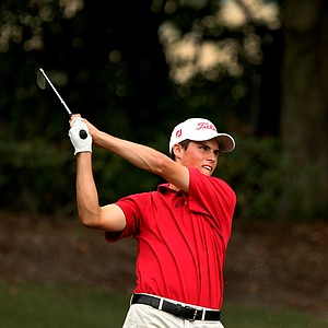 Gavin Hall hits his tee shot at No. 13 at the 2011 Junior Players at TPC Sawgrass in Ponte Vedra Beach, FL.