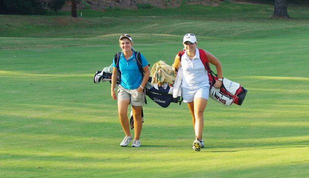 Kelli Murphy, left, beat McKenzie Talbert in a playoff at the Joe Cheves Junior.