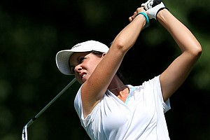 Emma Talley watches a shot during the U.S. Girls' Junior.