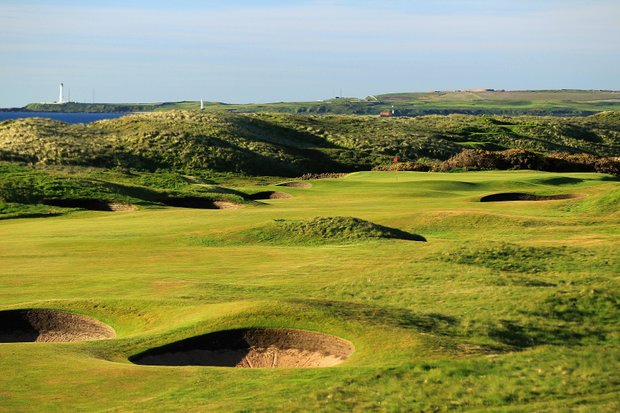 The 534-yard par 5, 12th hole 'Plateau' at Royal Aberdeen Golf Club on May 12, 2011 in Aberdeen, Scotland.