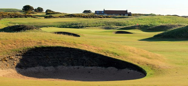 The 428-yard par 4, 7th hole 'Blackdog' at Royal Aberdeen Golf Club on May 12, 2011 in Aberdeen, Scotland.