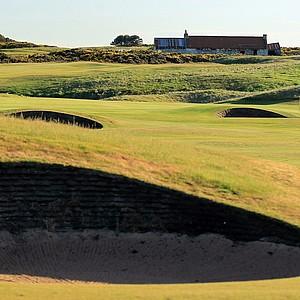 The 428-yard par 4, 7th hole 'Blackdog' at Royal Aberdeen Golf Club on May 12, 2011 in Aberdeen, Scotland.