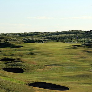 The 465-yard par 4, 9th hole 'End' at Royal Aberdeen Golf Club on May 12, 2011 in Aberdeen, Scotland.
