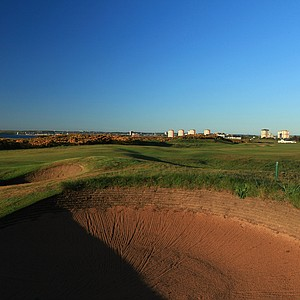 The 394-yard par 4, 16th hole 'Hill' at Royal Aberdeen Golf Club on May 12, 2011 in Aberdeen, Scotland.