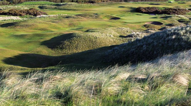 The 464-yard par 4, 4th hole 'Valley' at Royal Aberdeen Golf Club on May 12, 2011 in Aberdeen, Scotland.