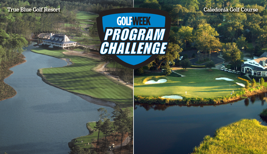 The inaugural Golfweek Program Challenge will be played at True Blue Golf Resort, left, and Caledonia Golf Course in Pawleys Island, S.C.