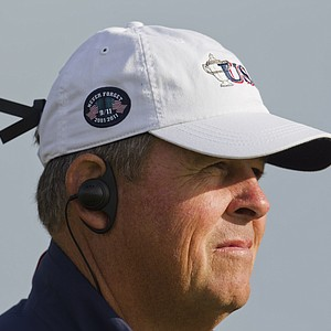 U.S. captain Jim Holtgrieve as seen during the morning foursomes round at the 2011 Walker Cup at Royal Aberdeen Golf Club in Aberdeen on Sunday, Sept. 11, 2011.