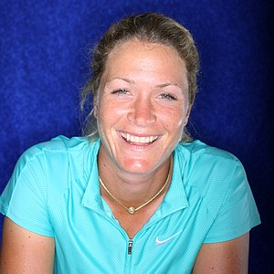 The many faces of Suzann Pettersen having fun with the camera during a recent shoot.