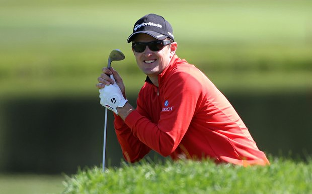 Justin Rose during the third round of the BMW Championship at Cog Hill