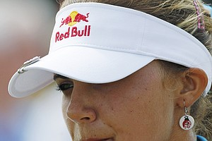 Lexi Thompson studies the third hole during the final round of the Navistar LPGA Classic golf tournament at Capitol Hill at the Robert Trent Jones Golf Trail in Prattville, Ala., Sunday, Sept. 18, 2011.