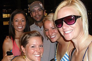 Nicole Smith, far right, is joined by fellow Big Break Ireland competitors Mallory Blackwelder (front left), Kelly Jacques (back left), Julien Trudeau and Annie Brophy.