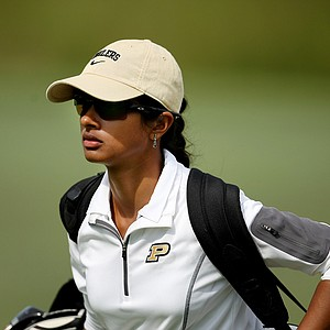 Purdue's Kishi Sinha during Saturday's round. Sinha is a junior at Purdue.
