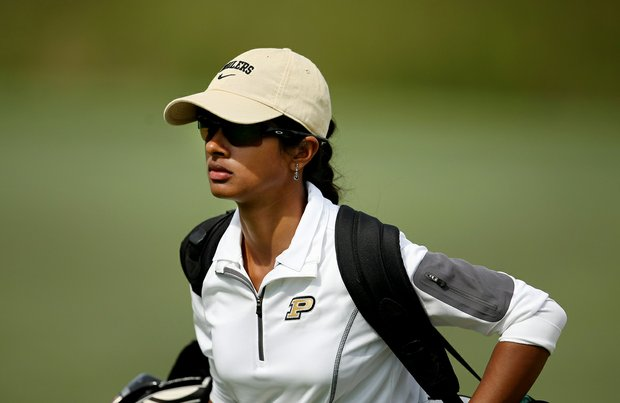 Purdue's Kishi Sinha during Saturday's round. Sinha is a junior at Purdue.