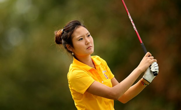 USC's Kristen Park during Saturday's round. Park dropped from T9 to T59 after the second round.