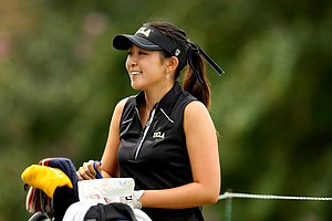 UCLA's Tiffany Lua during Saturday's round. She shot a 69 to get into second place.