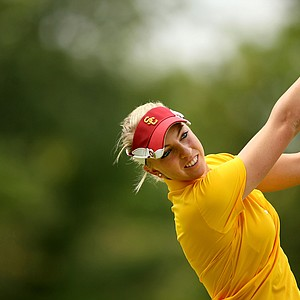 USC's Sophia Popov during Saturday's round. Popov posted a 72 in the second round.