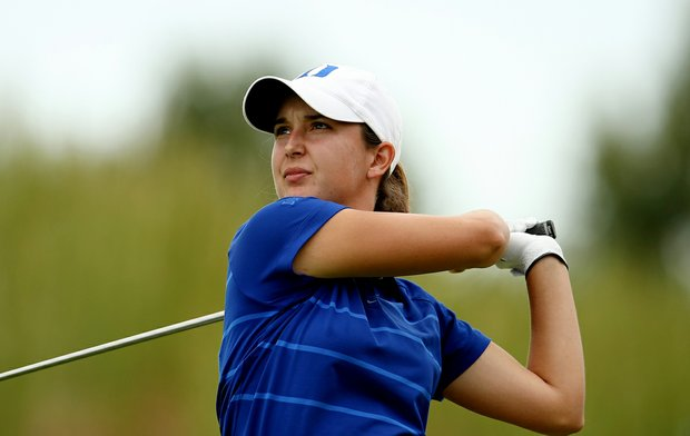 Duke's Lindy Duncan during Saturday's round. Duncan shot a 69 in the second round.