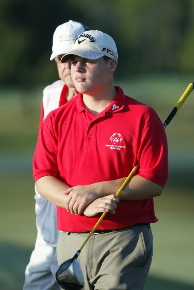 Danny Peaslee from Canada plays round 3 of the 2011 Special Olympics Invitational Golf Tournament held at PGA Golf Club in Port St. Lucie, Florida, Sunday, September 25, 2011.
