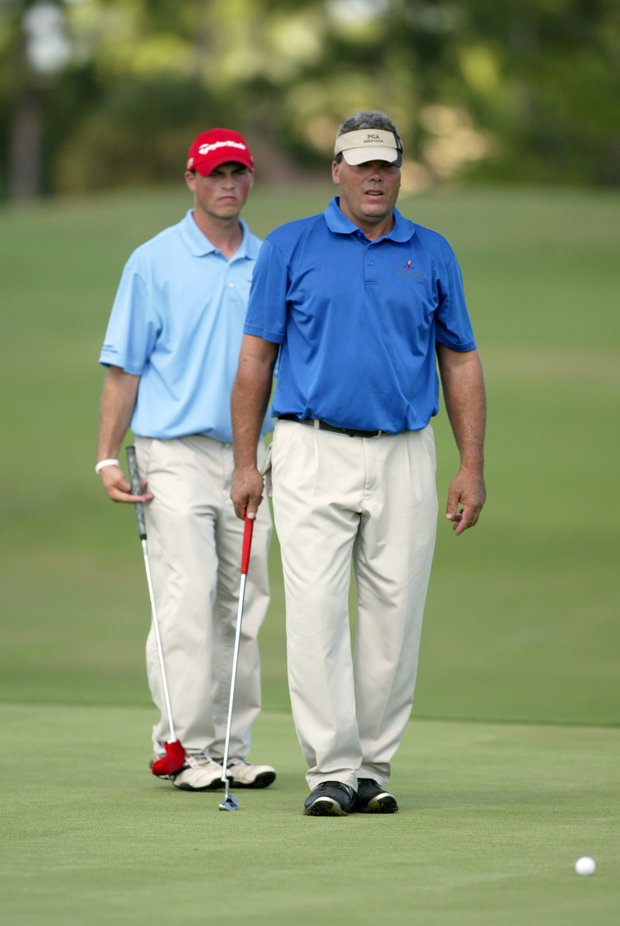 Father & son team Scott & Jeff Rohrer from South Carolina during the 2011 Special Olympics Invitational Golf Tournament held at PGA Golf Club in Port St. Lucie, Florida, Sunday, September 25, 2011.