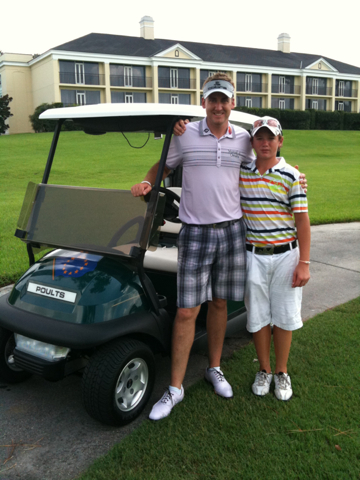 Sam Horsfield with Ian Poulter at Reunion Resort