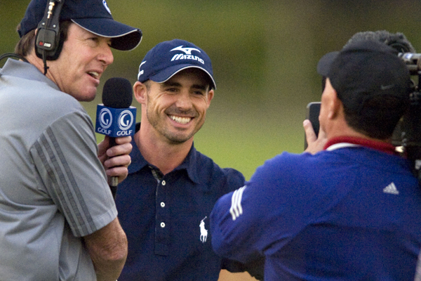 Jonathan Byrd smiles after wining the Justin Timberlake Shriners Hospitals for Children Open.