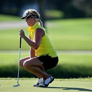 Jacqui Concolino during Stage II of LPGA Qualifying Tournament on the Bobcat Course. Concolino shot a final round 68.